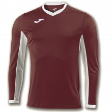 CHAMPION IV LS SHIRT (BURGUNDY-WHITE)