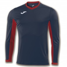 CHAMPION IV LS SHIRT (NAVY-RED)