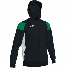 CREW III HOODED FZ POLY JACKET (BLACK-GREEN)