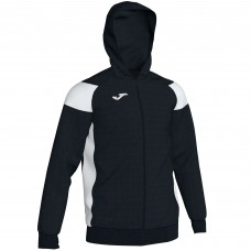 CREW III HOODED FZ POLY JACKET (BLACK-WHITE)