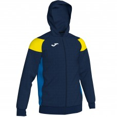 CREW III HOODED FZ POLY JACKET (NAVY-YELLOW)
