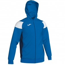 CREW III HOODED FZ POLY JACKET (ROYAL-WHITE)