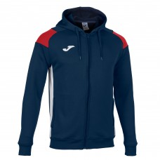 CREW III HOODED FZ POLY JACKET (NAVY-RED)