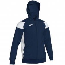 CREW III HOODED FZ POLY JACKET (NAVY-WHITE)