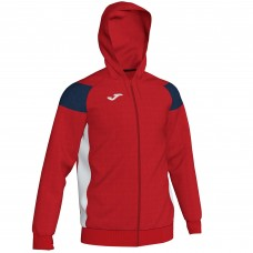 CREW III HOODED FZ POLY JACKET (RED-WHITE)
