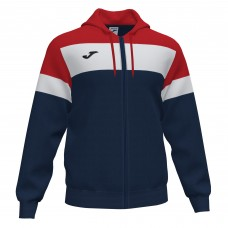 CREW IV HOODED FZ POLY JACKET (NAVY-RED)