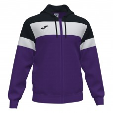 CREW IV HOODED FZ POLY JACKET (PURPLE-BLACK)