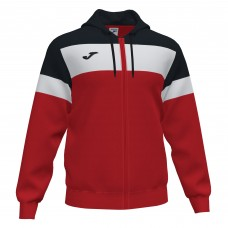 CREW IV HOODED FZ POLY JACKET (RED-BLACK)