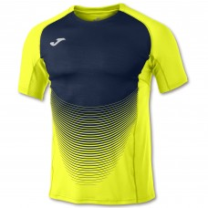 ELITE VI SS T-SHIRT (FLUOR YELLOW-DARK NAVY)