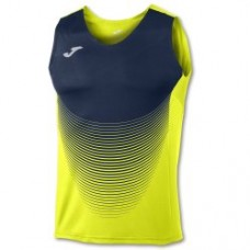ELITE VI SLEEVELESS T-SHIRT (FLUOR YELLOW- DARK NAVY)