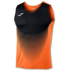 ELITE VI SLEEVELESS T-SHIRT (ORANGE-BLACK)