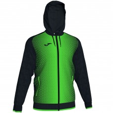 SUPERNOVA HOODED FZ POLY JACKET (BLACK-FLUOR GREEN)