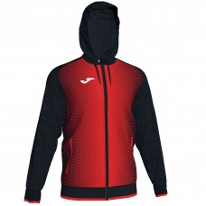 SUPERNOVA HOODED FZ POLY JACKET (BLACK-RED)