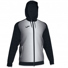 SUPERNOVA HOODED FZ POLY JACKET (BLACK-WHITE)