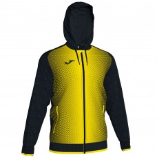 SUPERNOVA HOODED FZ POLY JACKET (BLACK-YELLOW)