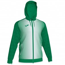 SUPERNOVA HOODED FZ POLY JACKET (GREEN-WHITE)