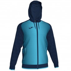 SUPERNOVA HOODED FZ POLY JACKET (NAVY-FLUOR TURQUIOSE)