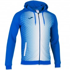 SUPERNOVA HOODED FZ POLY JACKET (ROYAL-WHITE)