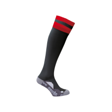 AZLON SOCK (BLACK-RED)
