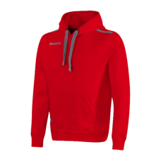 GRUNGE HOODED SWEAT TOP (RED)