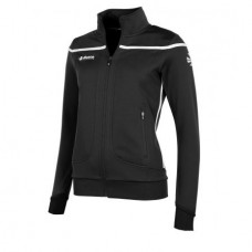 VARSITY FZ JACKET/ LADIES (BLACK-WHITE)