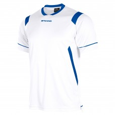 AREZZO SS SHIRT (WHITE-ROYAL)