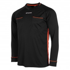 ANCONA REFEREE SHIRT (BLACK-SHOCKING ORANGE)
